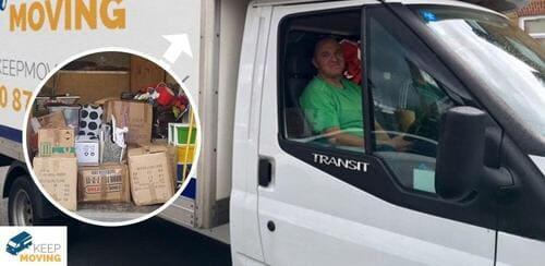 Fortis Green man with a van N2