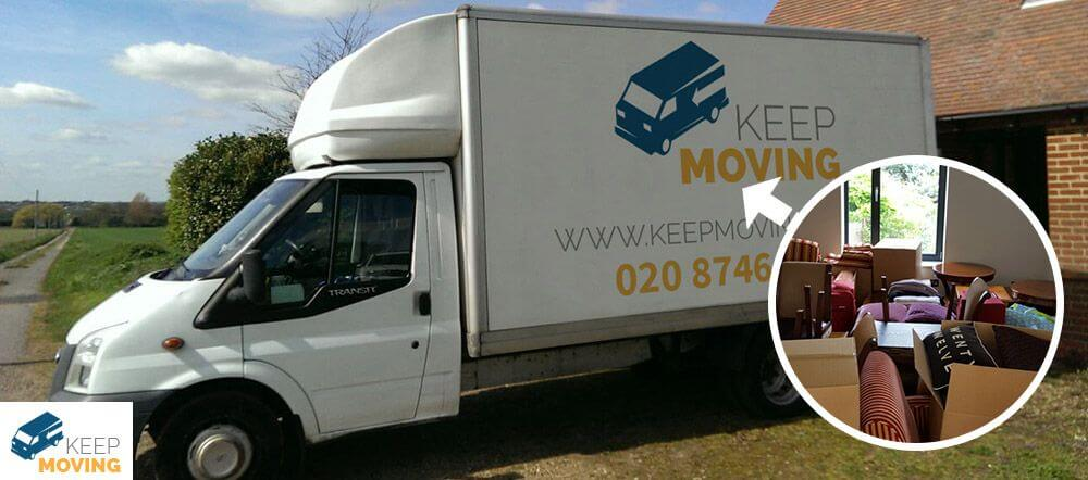 Lower Morden man with a van SM4